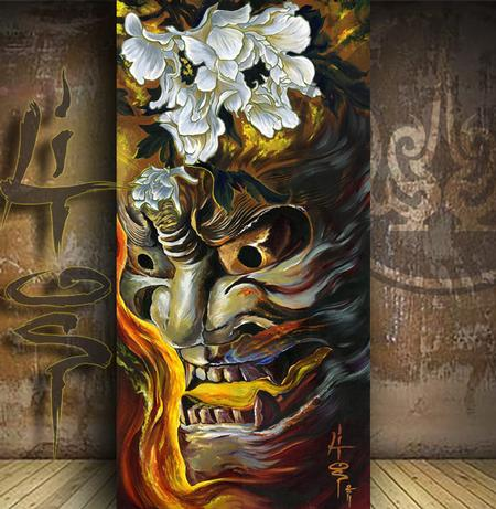 Hannya Art Original Artwork Thumbnail